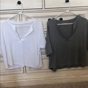 Two Beyond Yoga Swinging boxed cropped tee Smalls